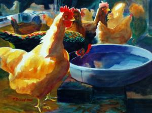 Four Clucks by Kathy Braud is accepted into NSWS National Show