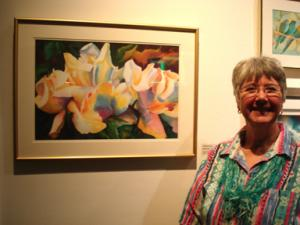 2017 MNWS Fall Exhibition, Luminous Light, Kathy Braud attends reception